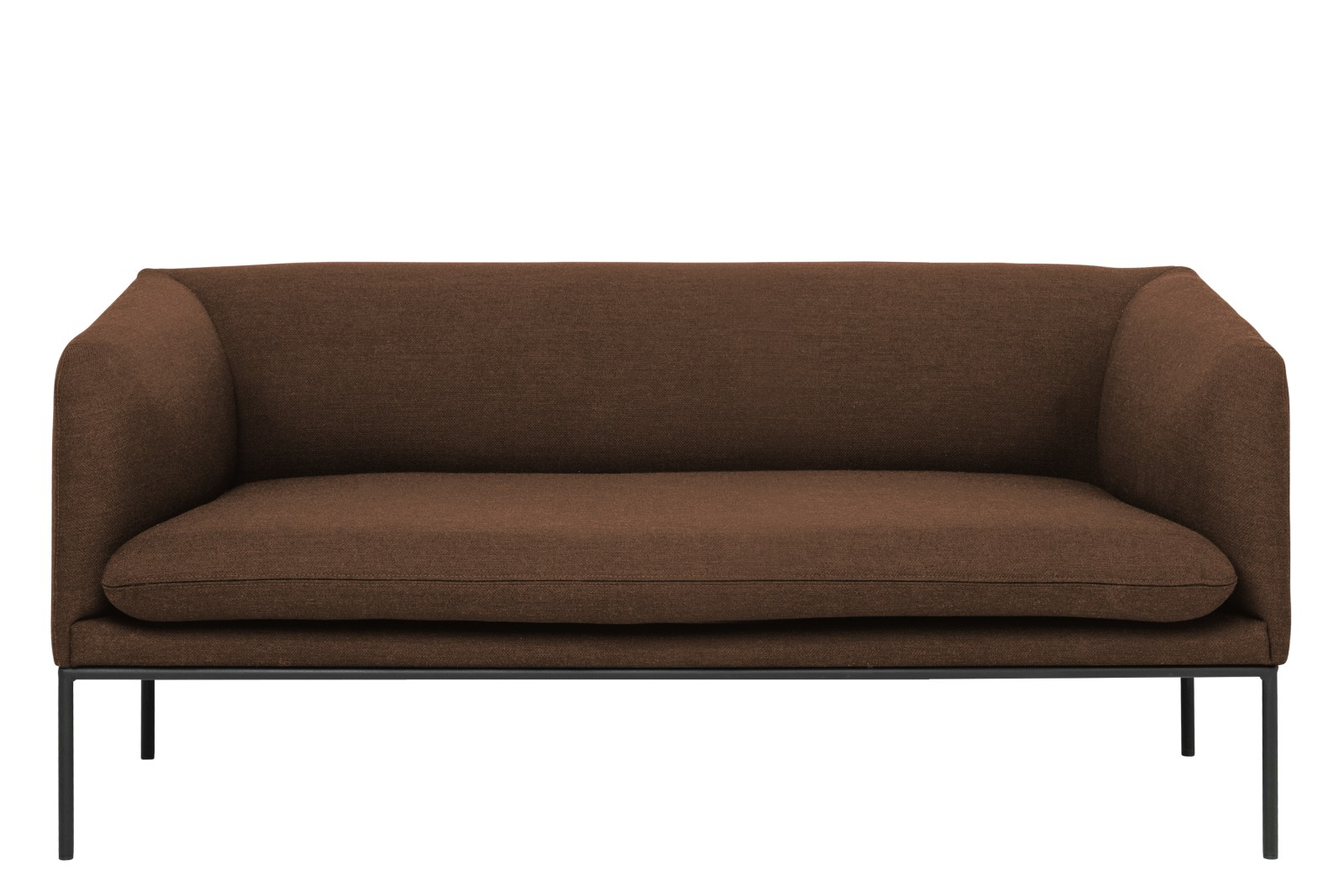 Turn 2 Seater Sofa Fiord by Kvadrat, Solid Rust, Crib 5