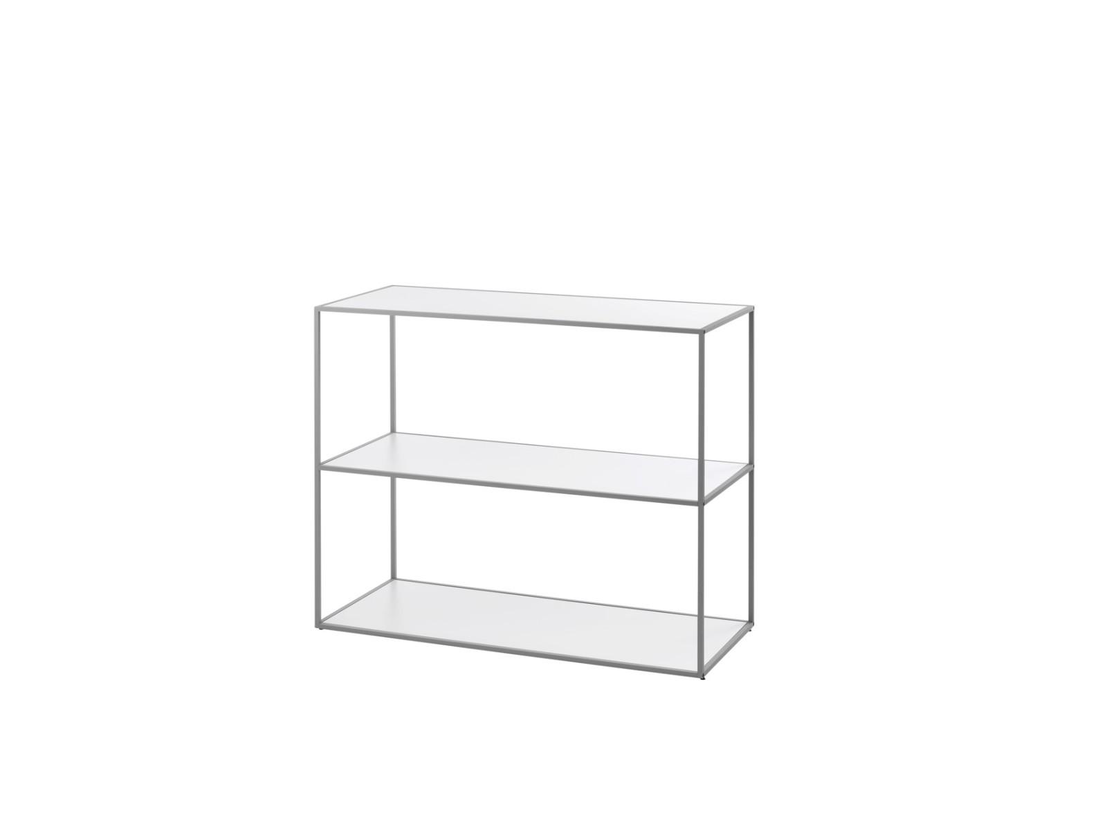 Twin Bookcase - 3 Shelves Grey