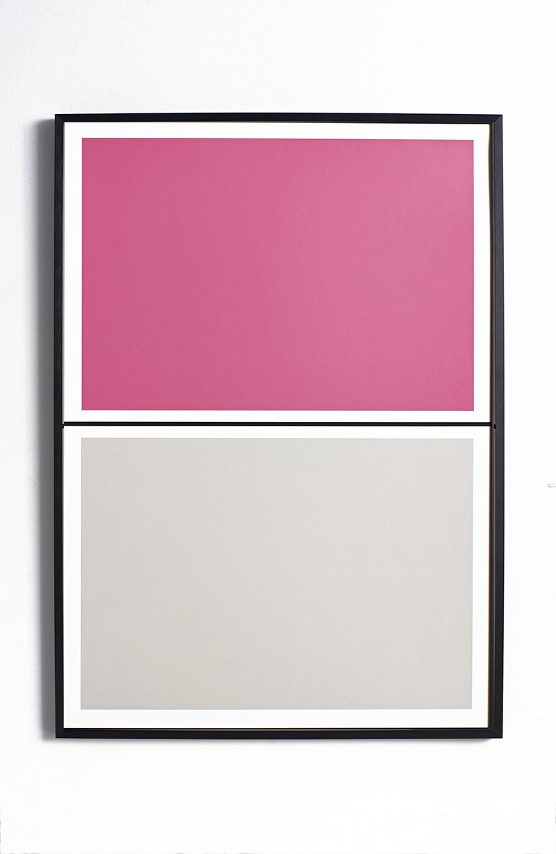 Twin Tone Play Screen Print - Peony Pink & Smith Grey Without Frame