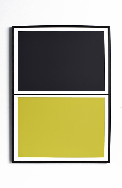 Twin Tone Play Screen Print - Soot Black & Yuzu Yellow Without Frame