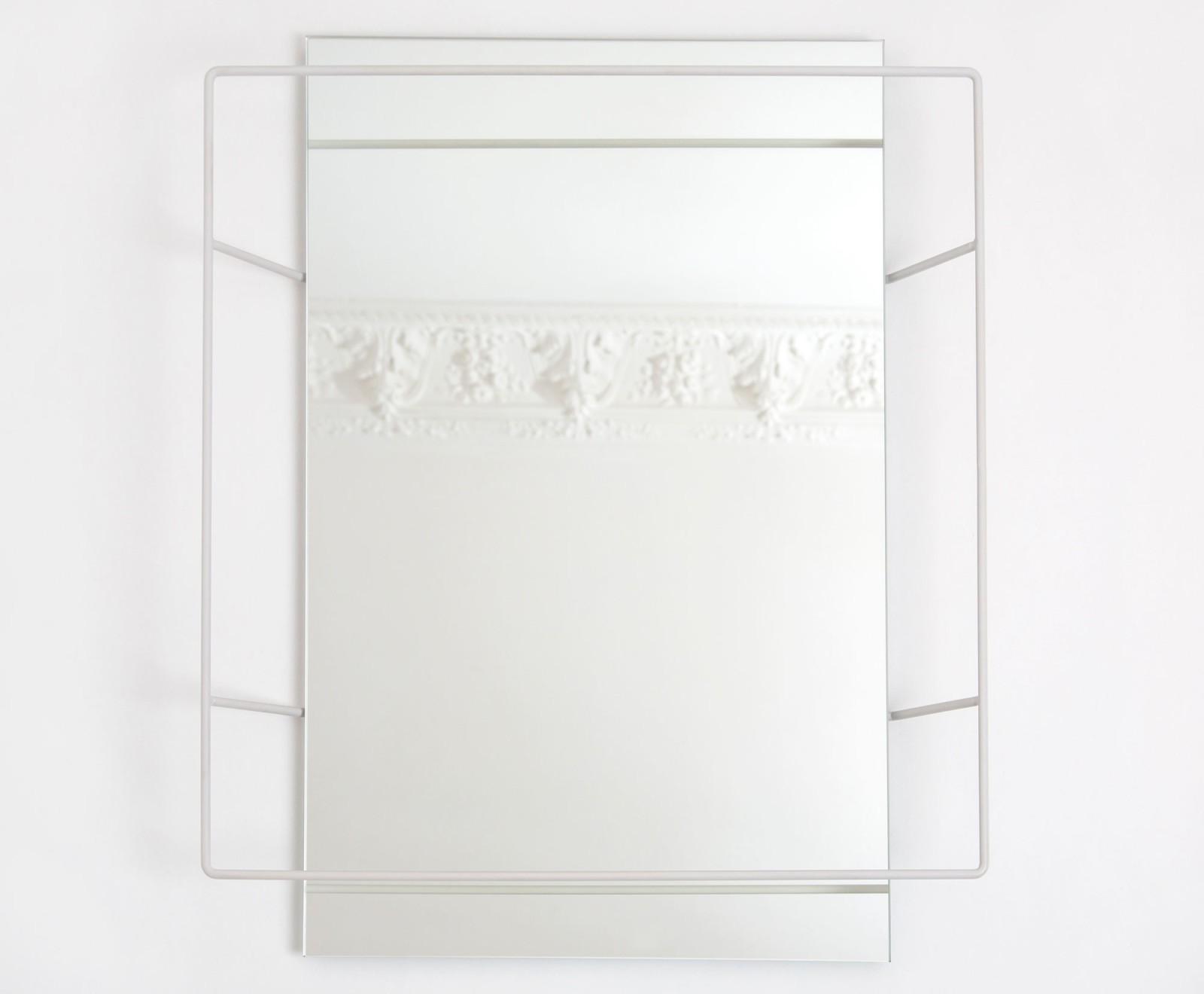 Untitled Rectangular Mirror Light Grey