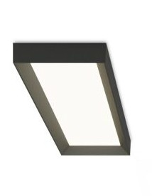 Up 4452 Ceiling Light - Rectangular Matt Graphite Lacquer, 2700K