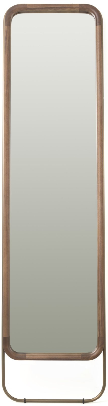 Utility Rectangular Mirror Walnut Brown Stained Ash, Small