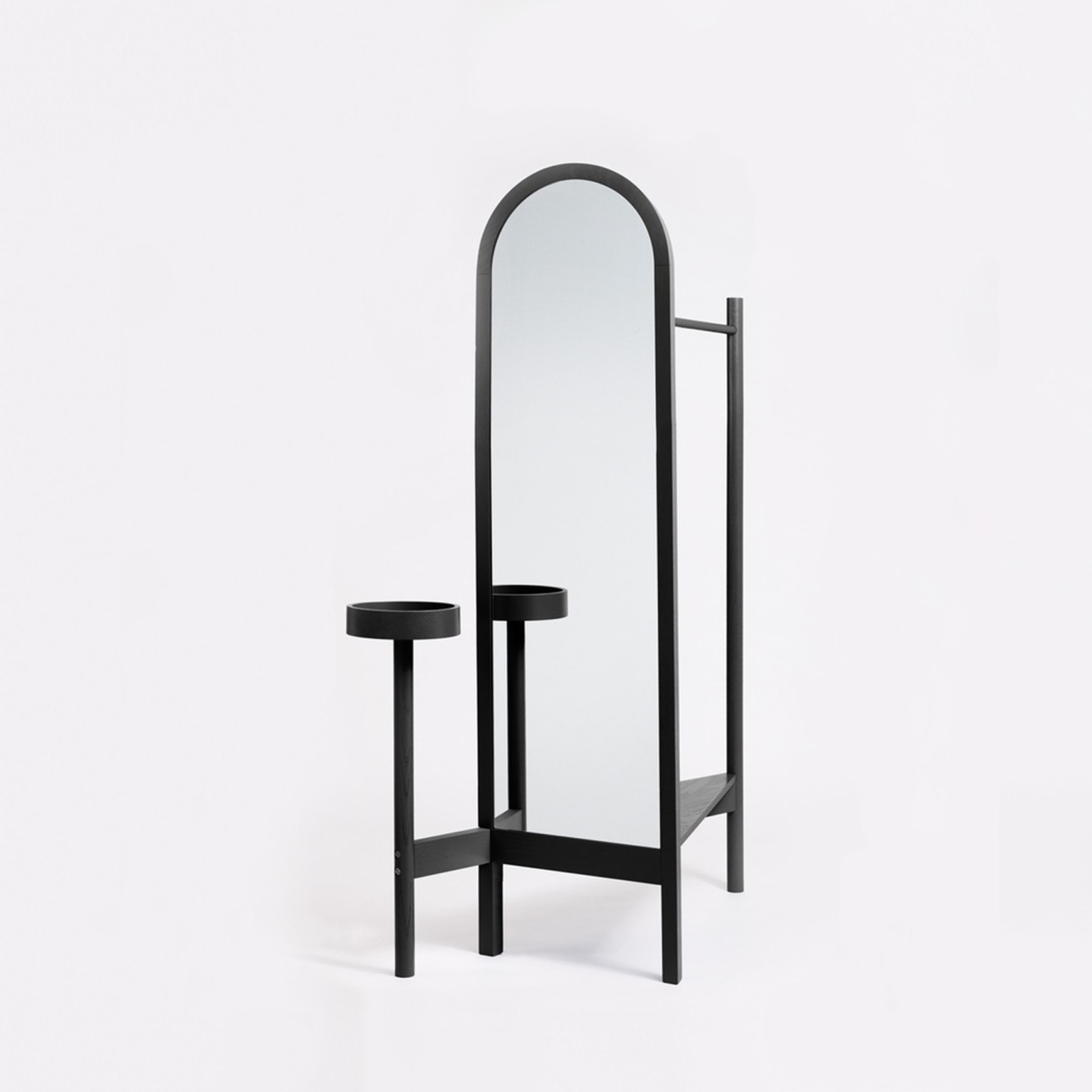 Valet Stand Black Lacquered Ash