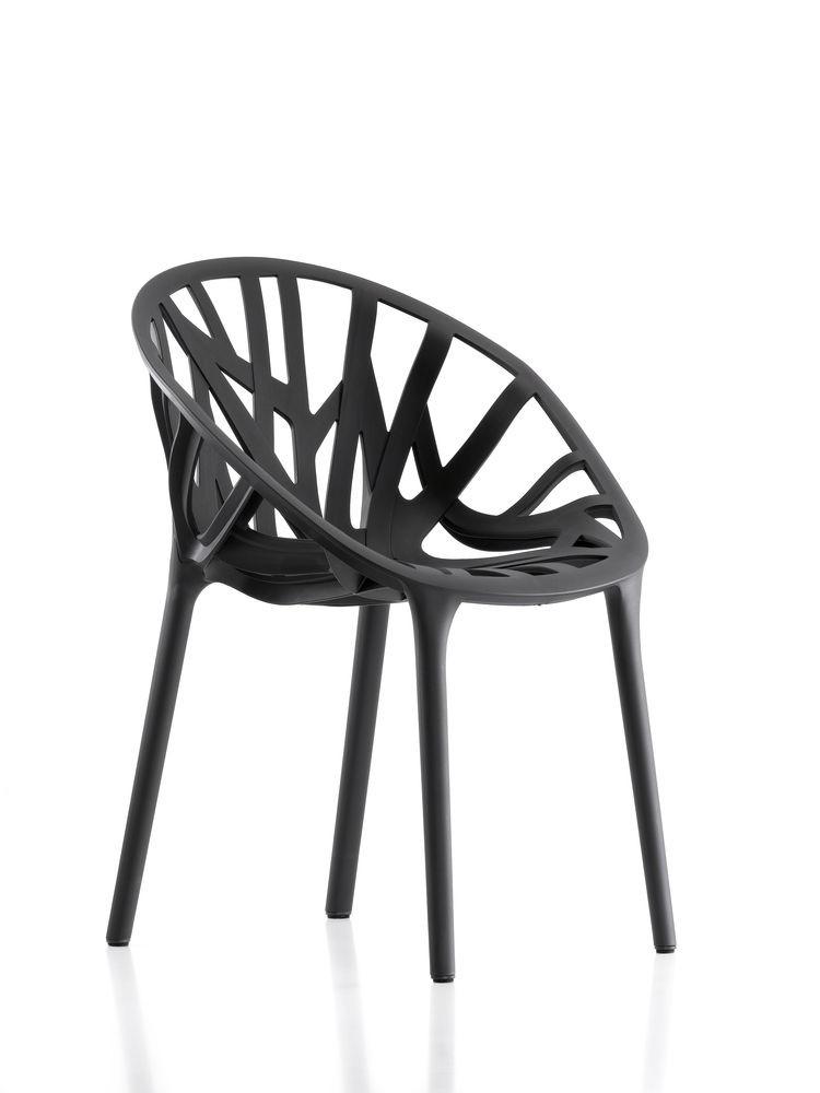 Vegetal Chair 01 basic dark, 04 glides for carpet