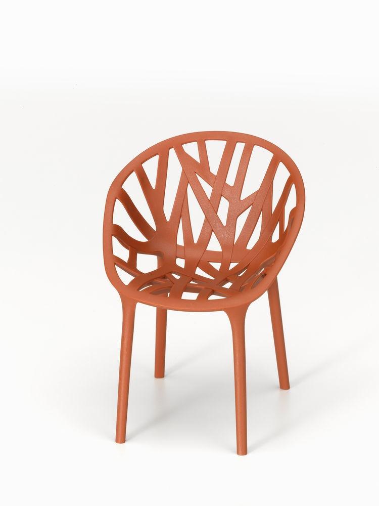 Vegetal Chair 29 brick, 04 glides for carpet