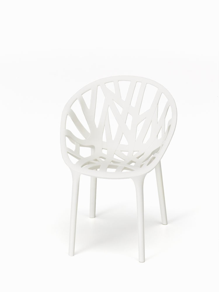 Vegetal Chair 30 cream, 04 glides for carpet