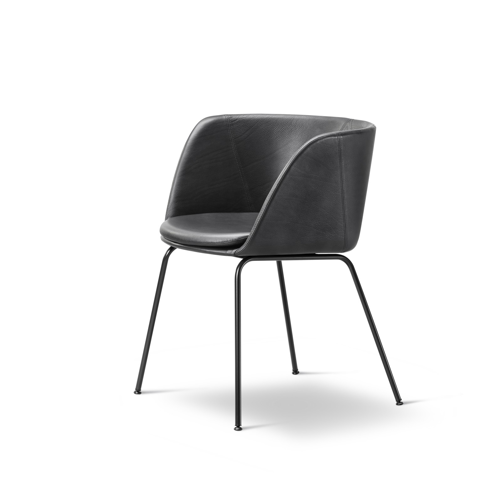 Verve 4 Leg fully upholstered Black Painted Steel, Remix 2 113