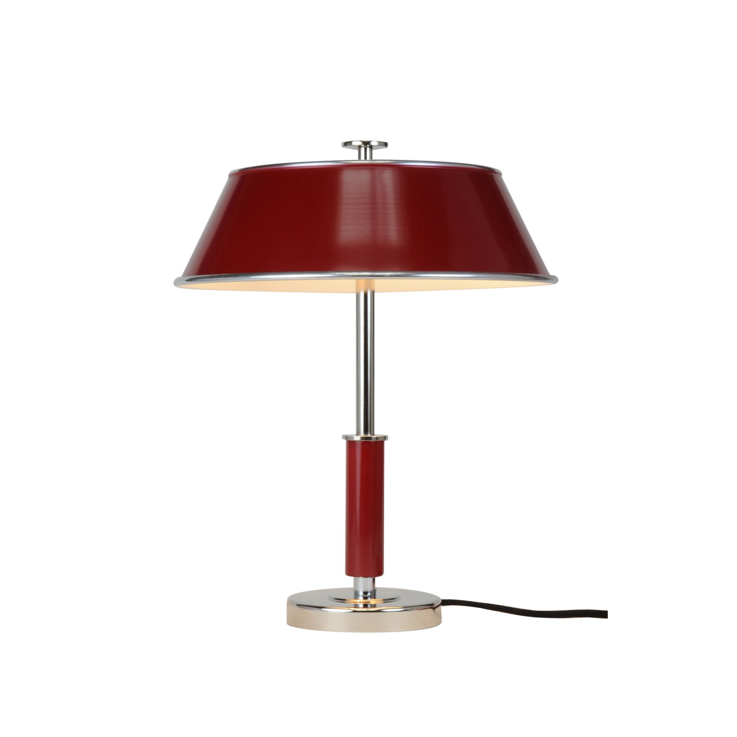 Victor Table Lamp Burgundy Red