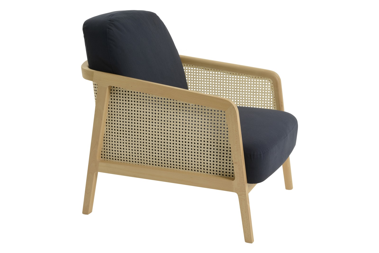 Vienna Lounge Chair Beech, Blue