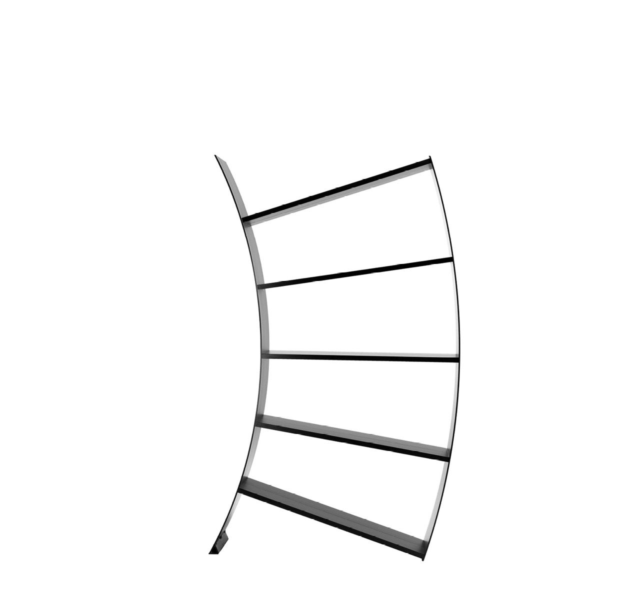 Virgo Bookcase Aluminum