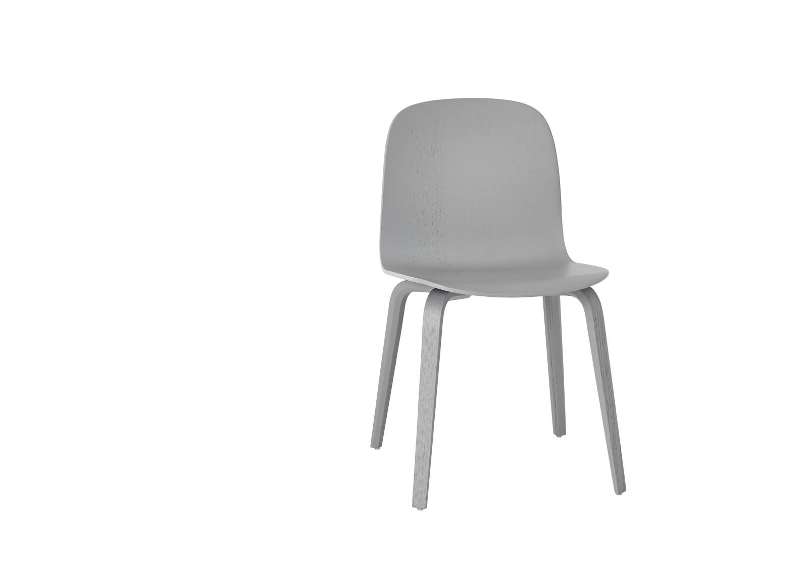 Visu Chair Wood Base Grey