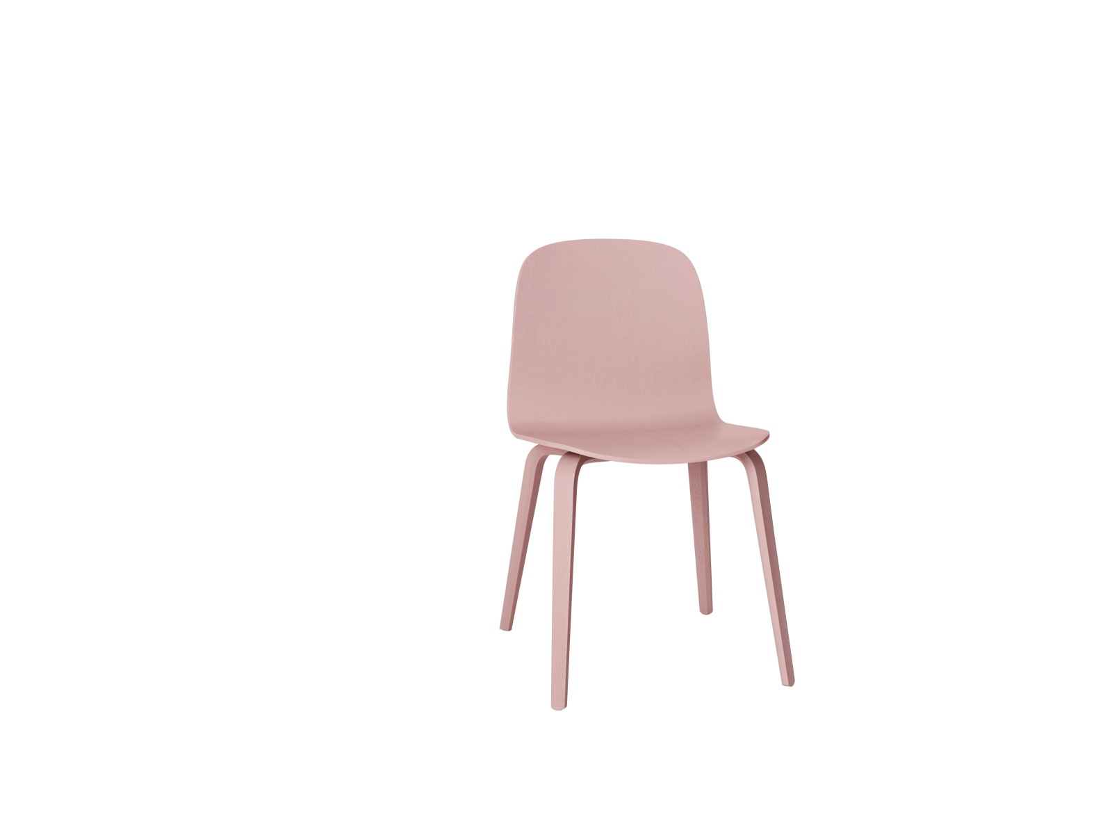 Visu Chair Wood Base Rose