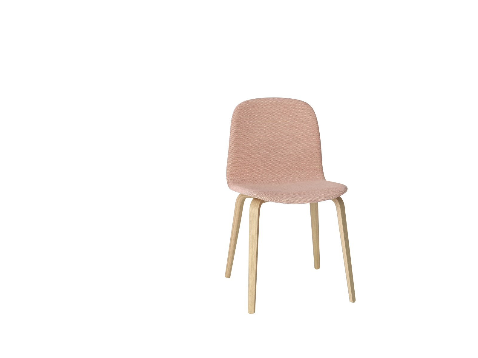 Visu Chair Wood Base - Textile Shell Steelcut Trio 515 / Oak