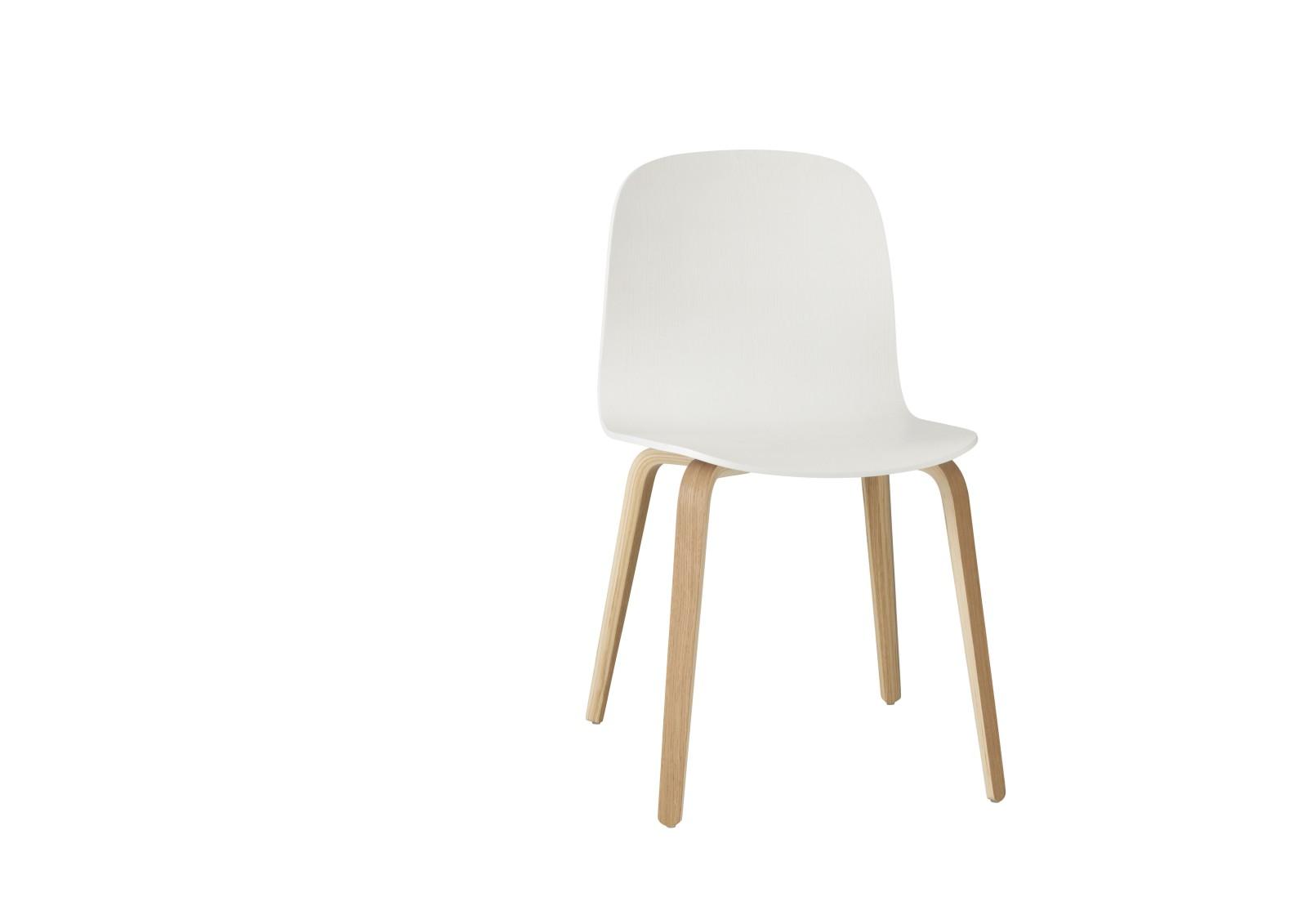 Visu Chair Wood White Base Oak/White