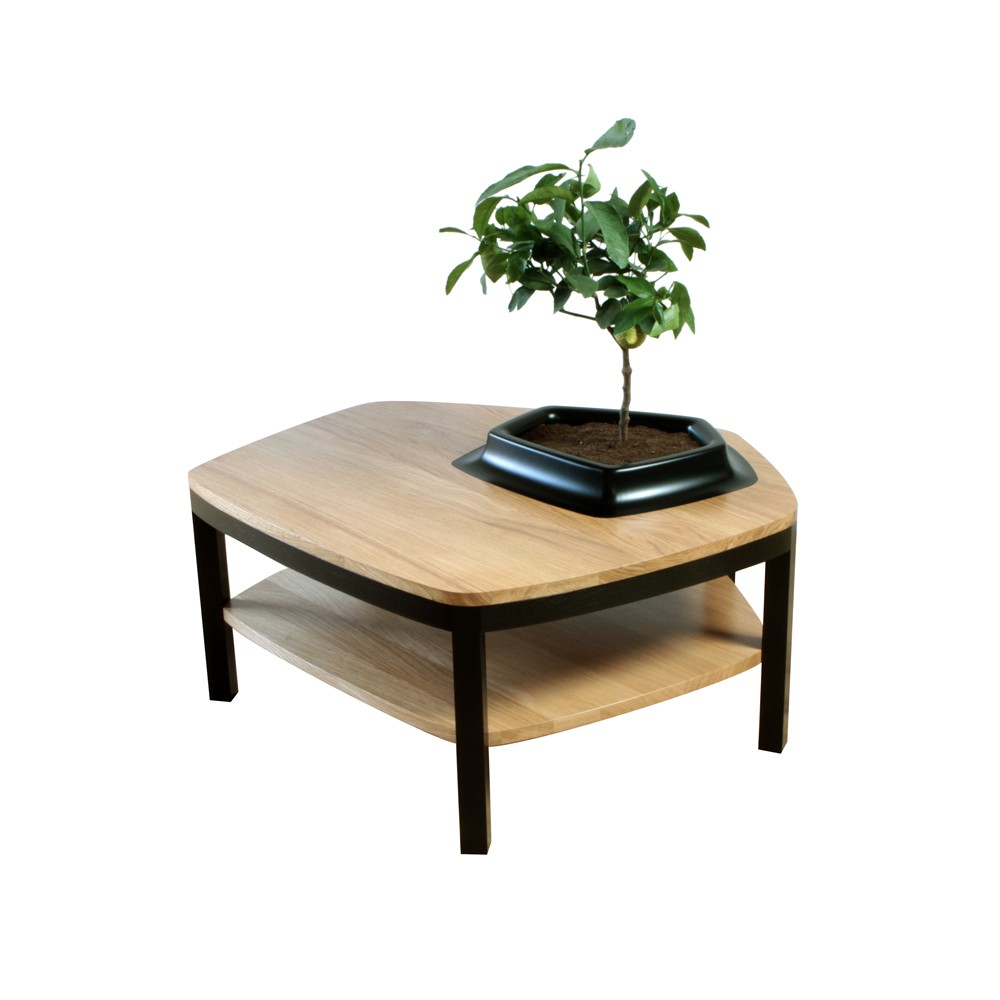 Volcane Pieds Coffee Table Wood, Black
