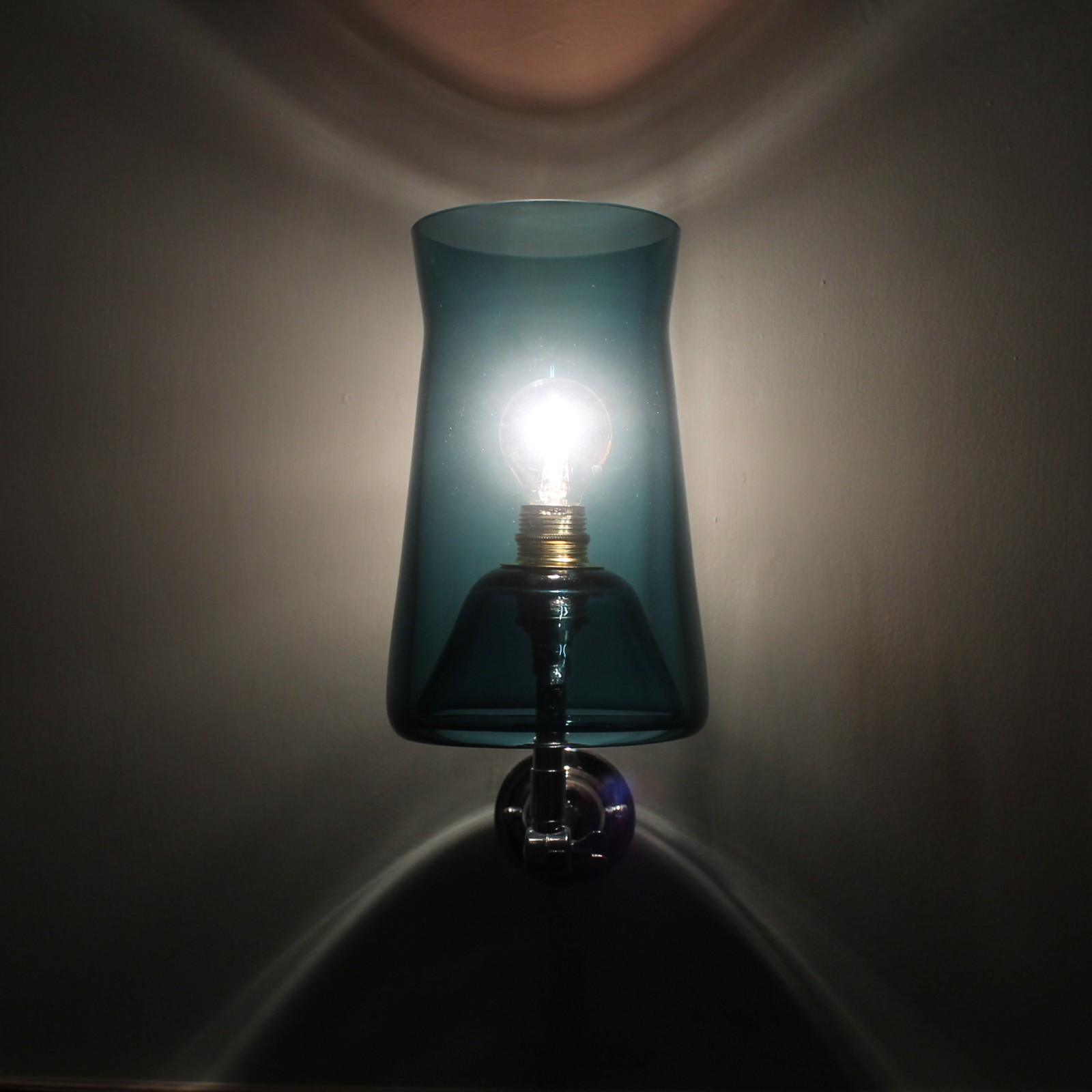 Waisted Wall Lamp Teal Blue