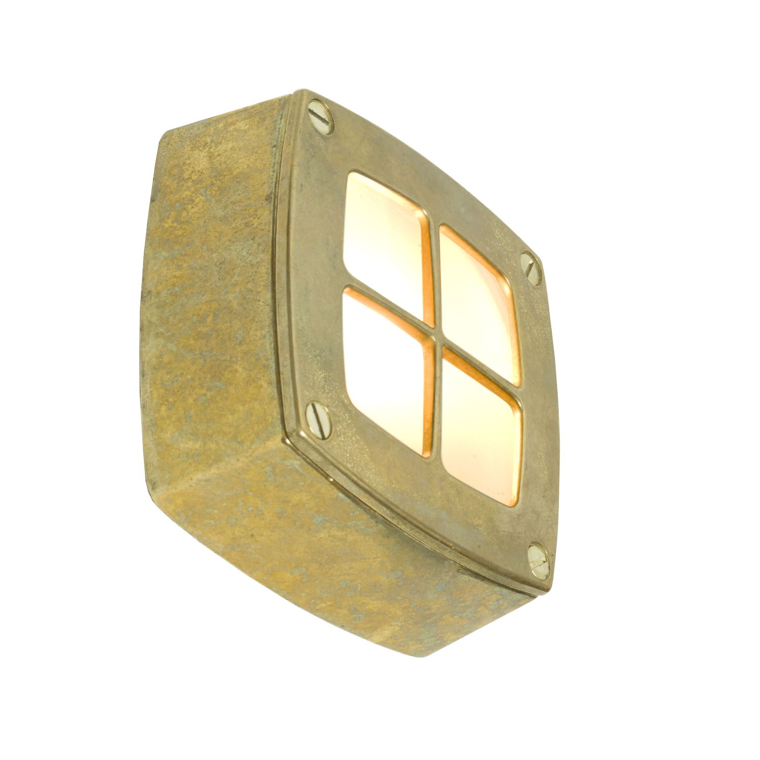 Wall/Ceiling Light Square 8140 Brass