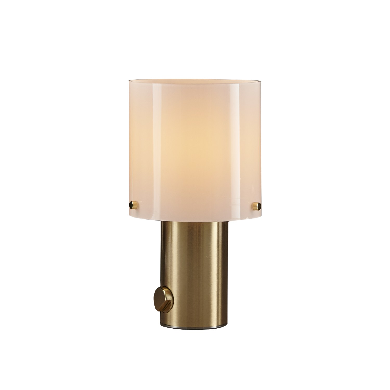 Walter Table Lamp Opal Glass & Brass, Small