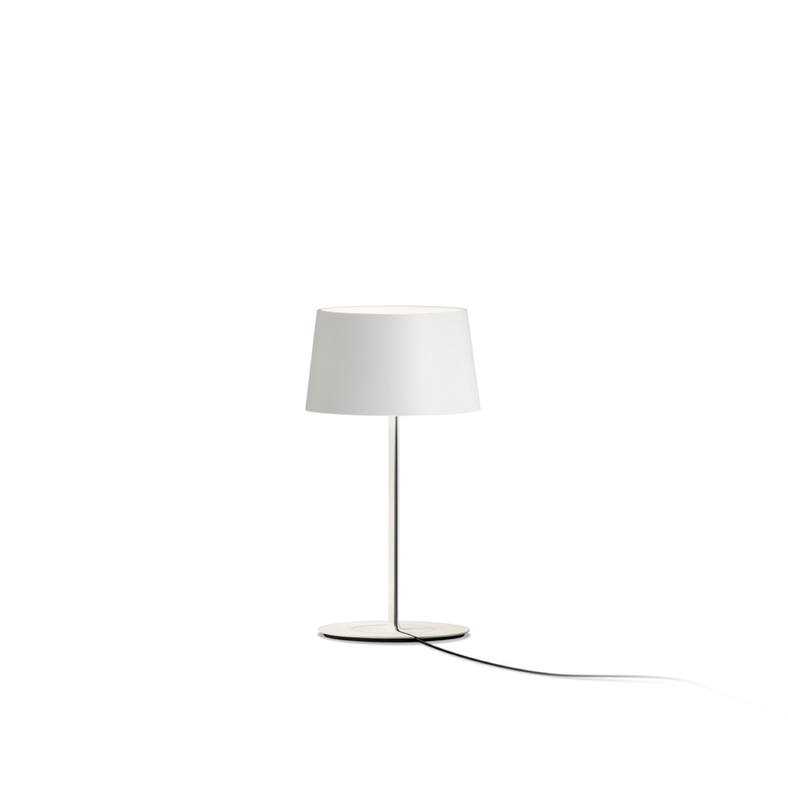 Warm Mini Table Lamp Off-white Matt Lacquer, Aluminium