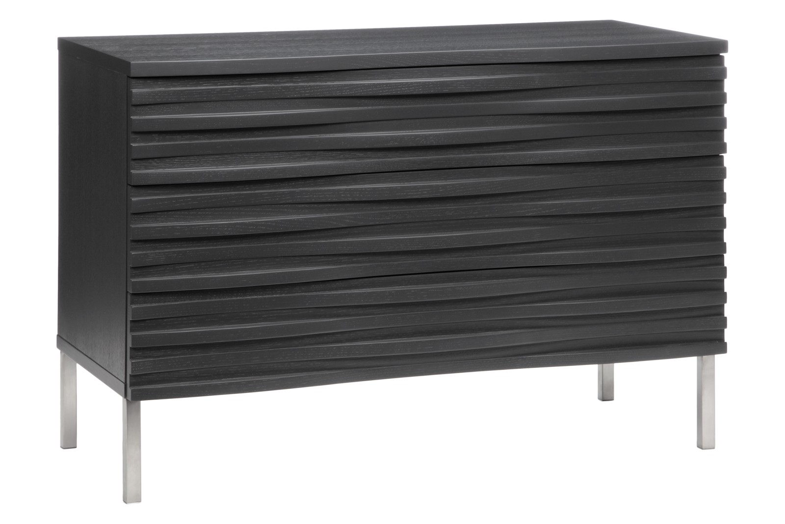 Wave 3 Drawer Chest Charcoal
