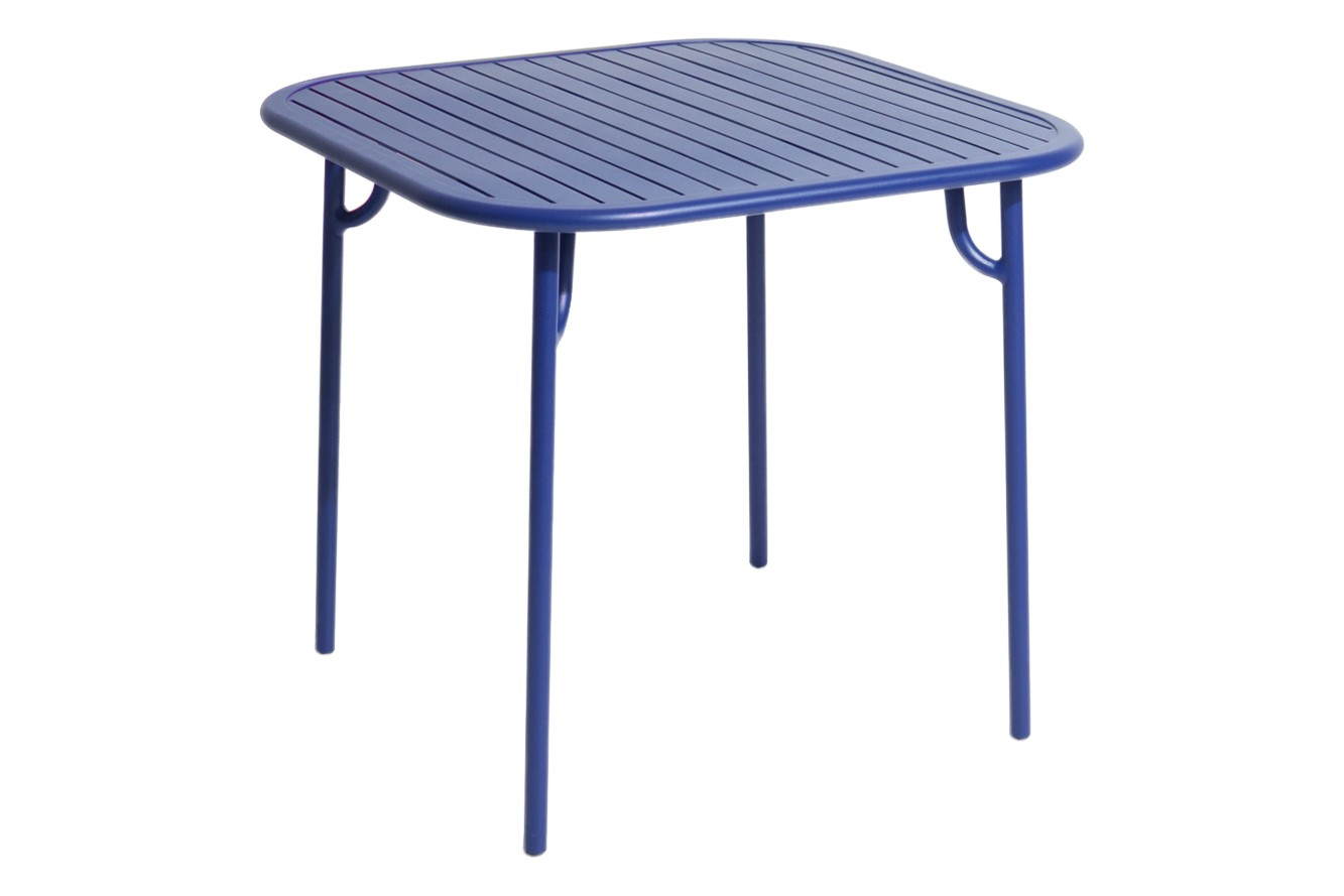 Week-End Square Table Blue, RAL 5002