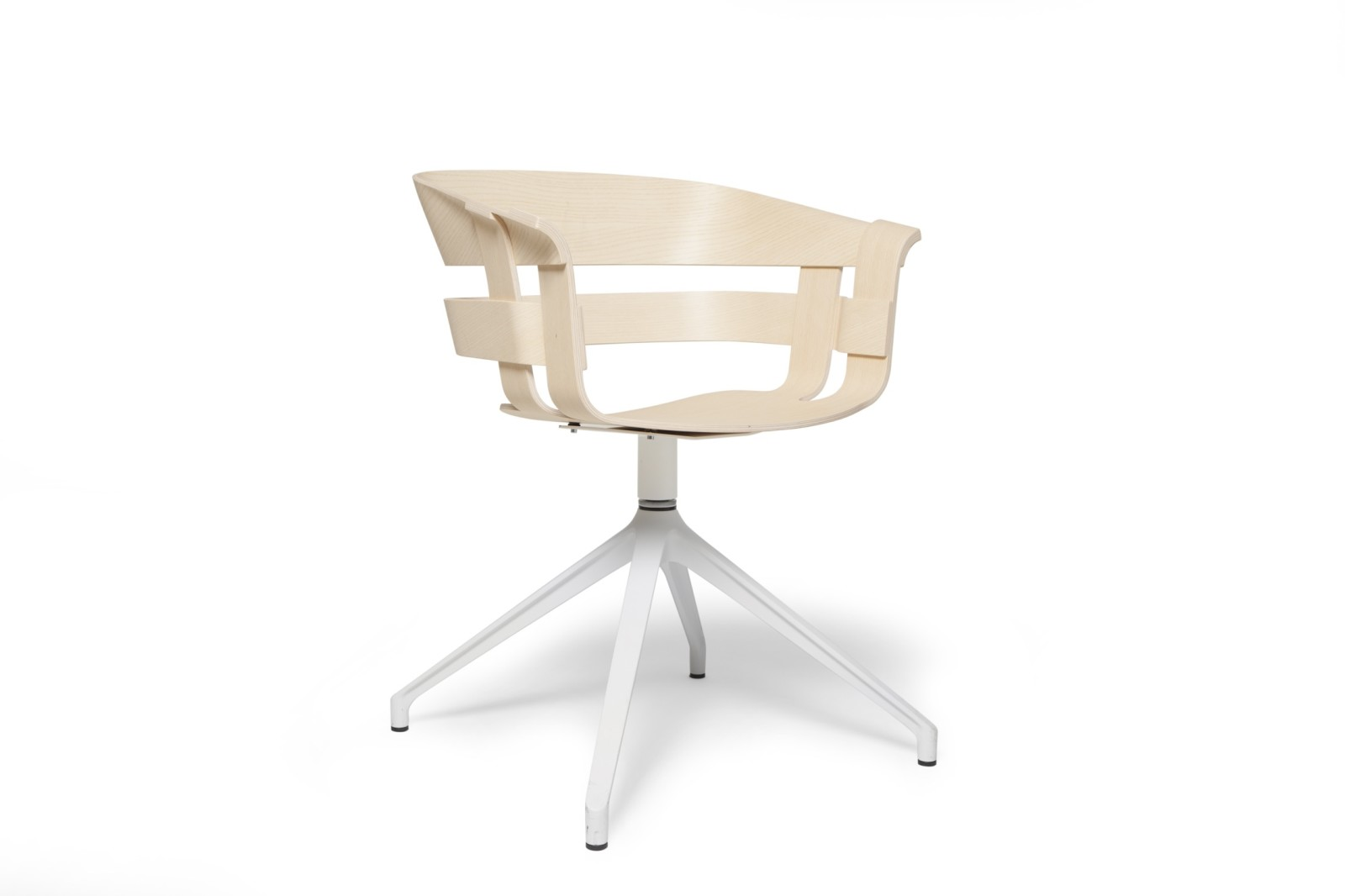 Wick Chair - Swivel Base Ash seat, white base