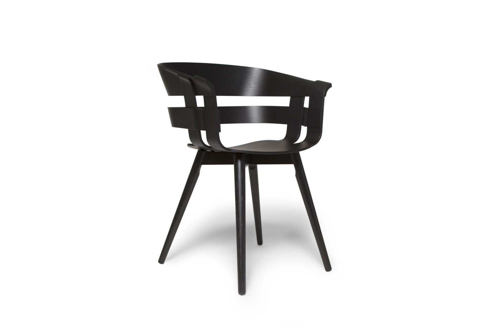 Wick Chair - Wooden Legs Black Ash