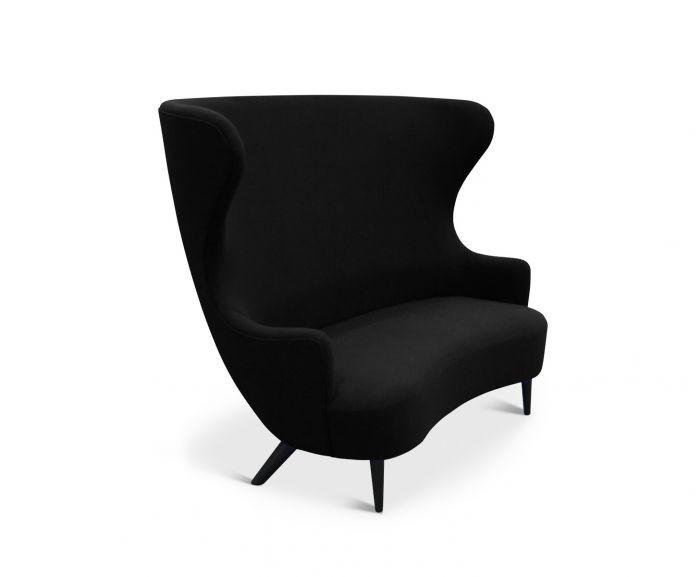 Wingback Sofa Black, Hallingdal 65 190