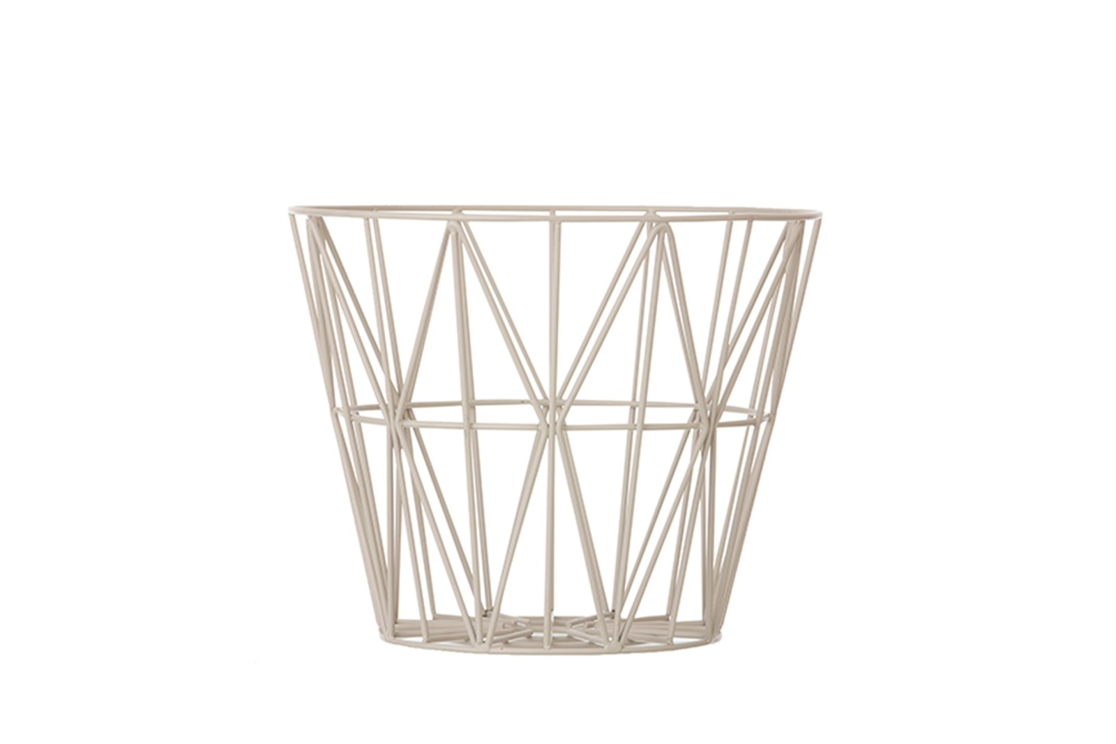 Wire Basket - Set of 4 Small, Light Grey