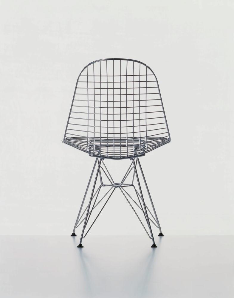 Wire Chair DKR 01 chrome, 04 basic dark for carpet