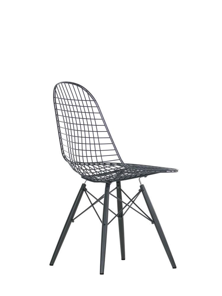 Wire Chair DKW 02 golden maple, 04 basic dark for carpet