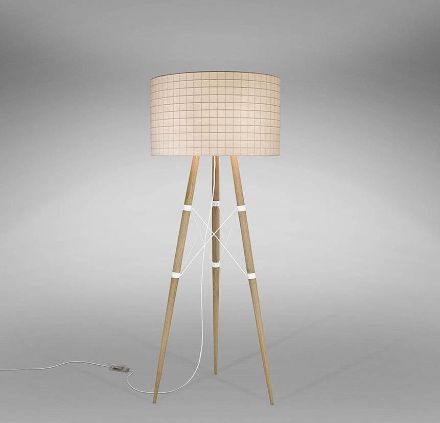 Wire Light Floor Lamp Matte White, 75