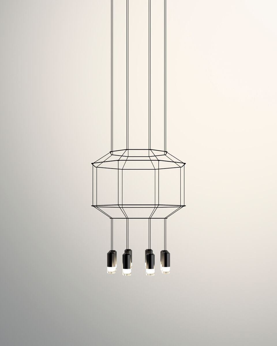 Wireflow Chandelier - 8 LEDs Included, 55cm