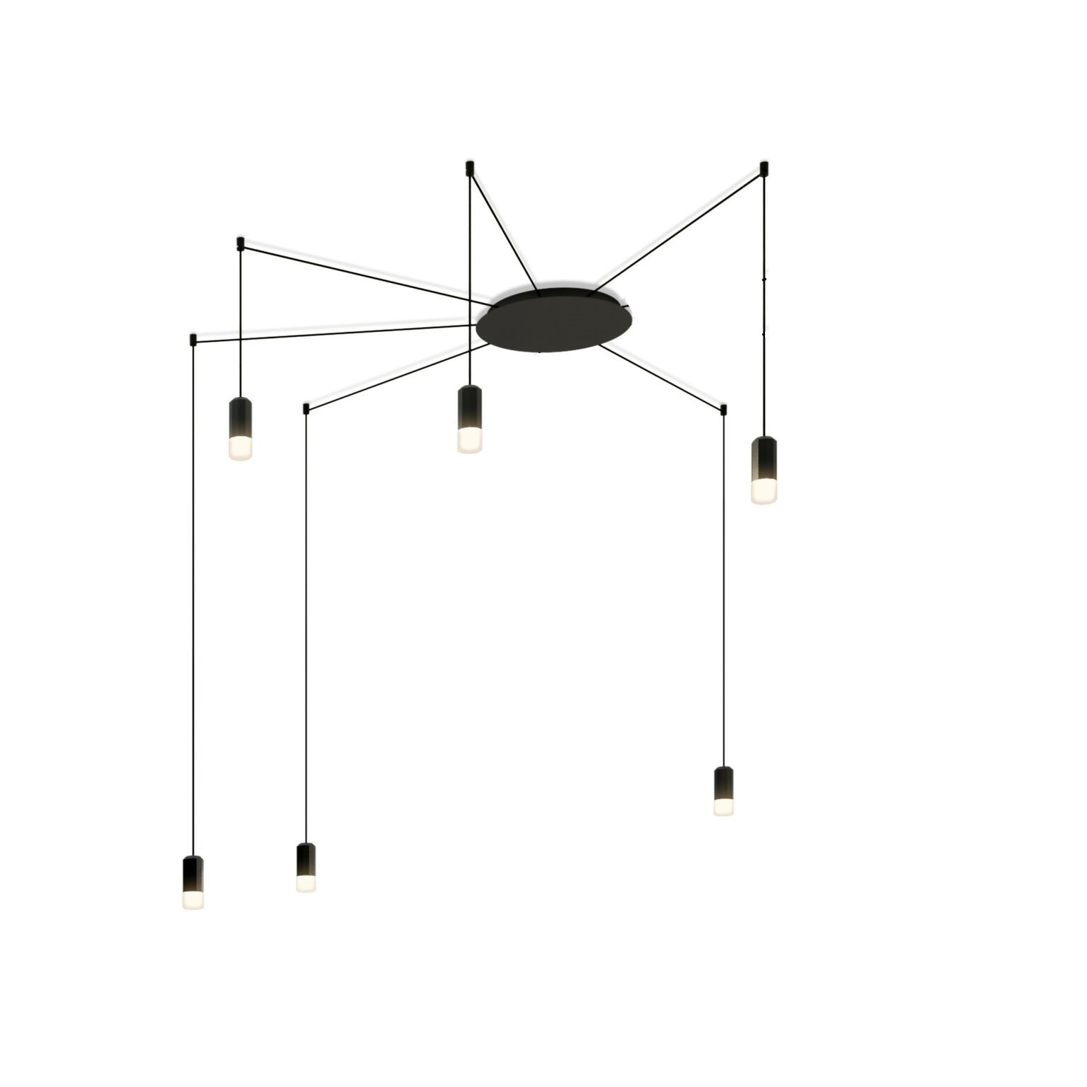 Wireflow Free Form Pendant Light - 6 LEDs Included