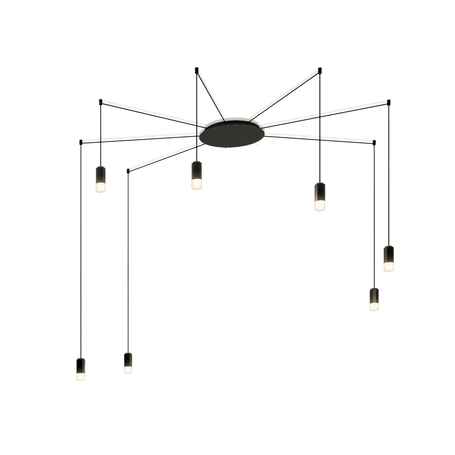 Wireflow Free Form Pendant Light - 7 LEDs Included