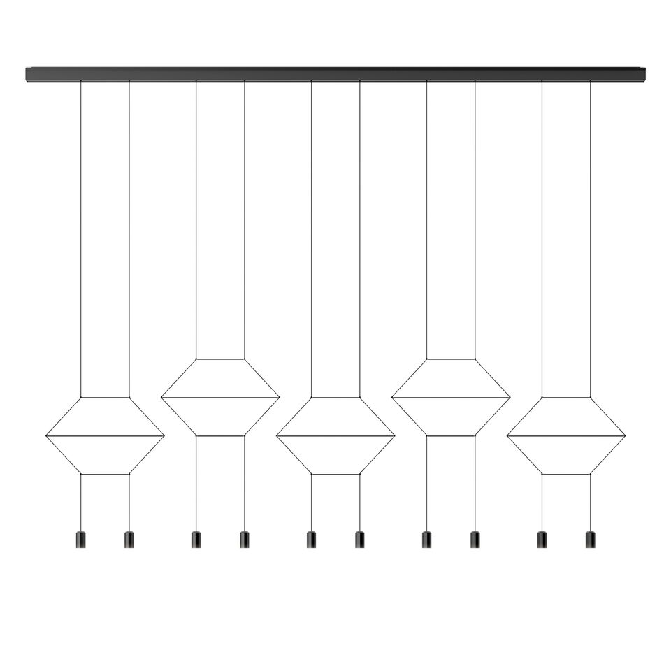 Wireflow Lineal Pendant Light - 10 LEDs 121cm