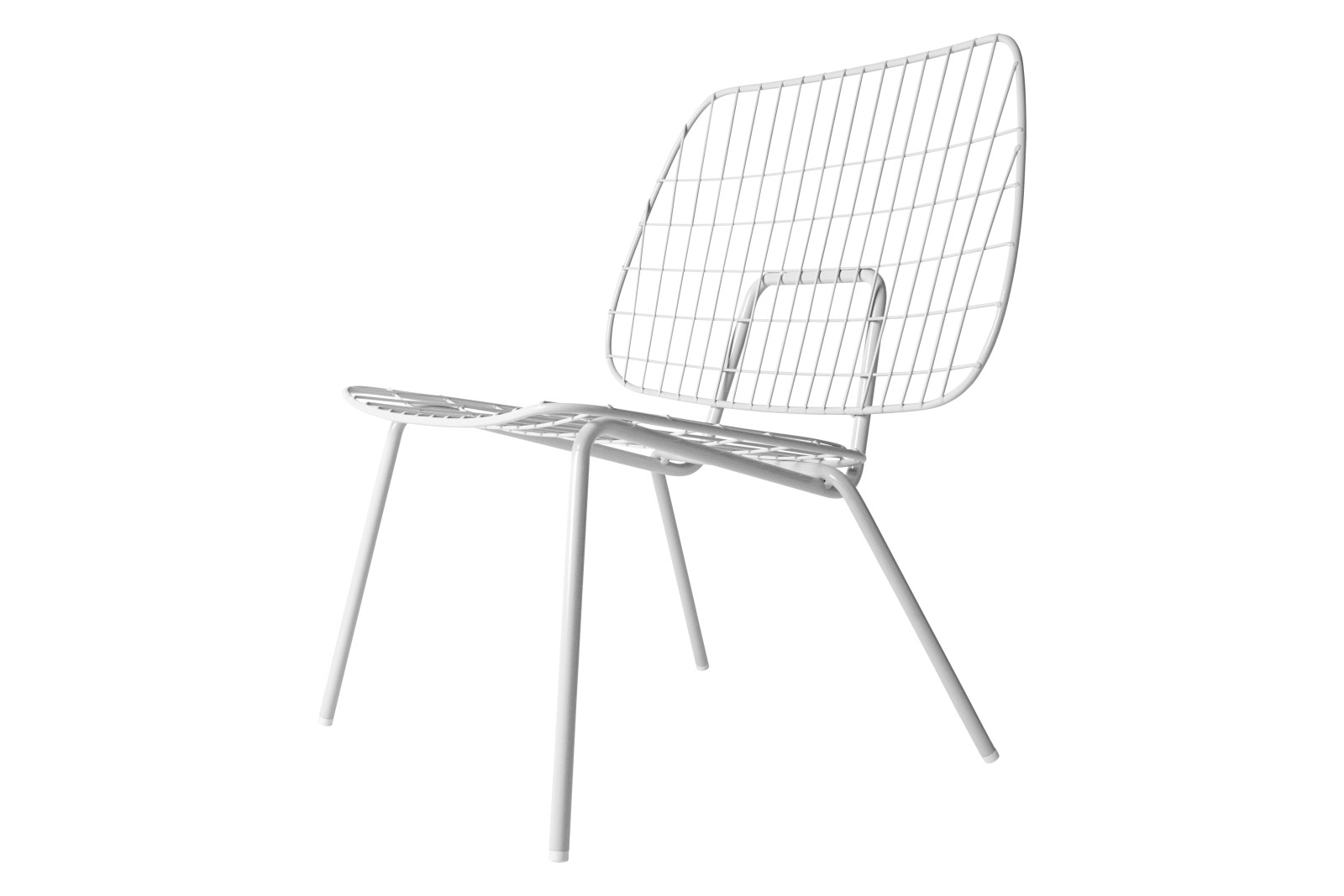 Wm String Lounge Chair White