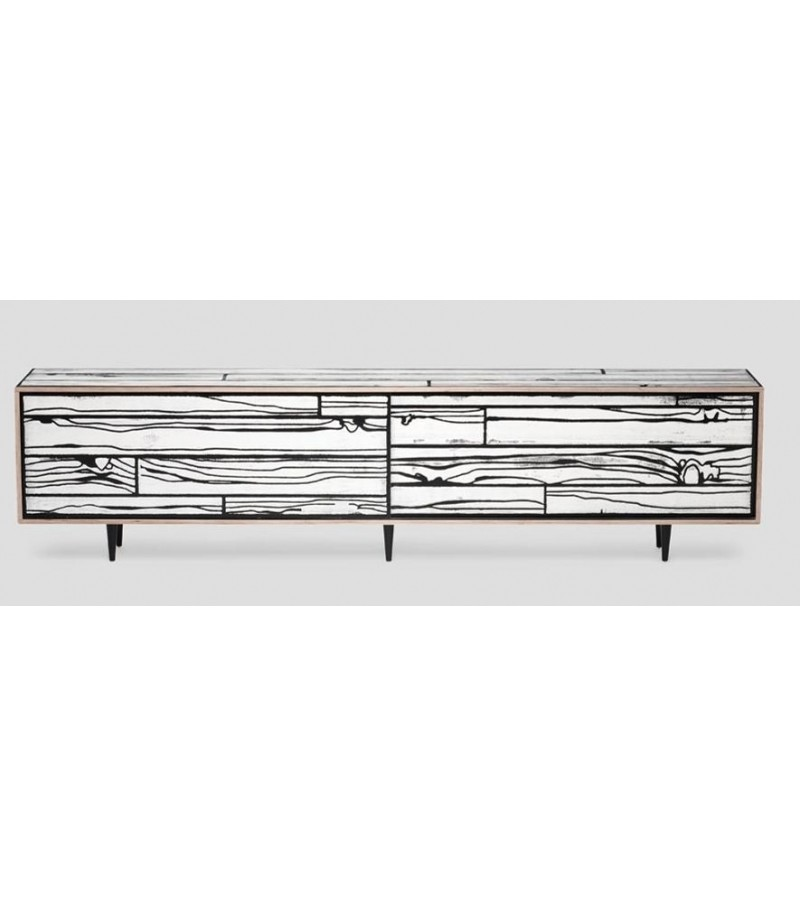 Wrongwoods Low Cabinet - L260 White with Black