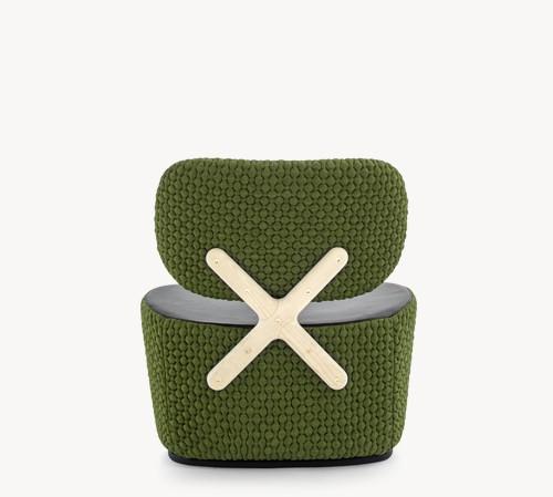 X-Chair Small Armchair A4500 - Art.48045 - 206 beige, Natural
