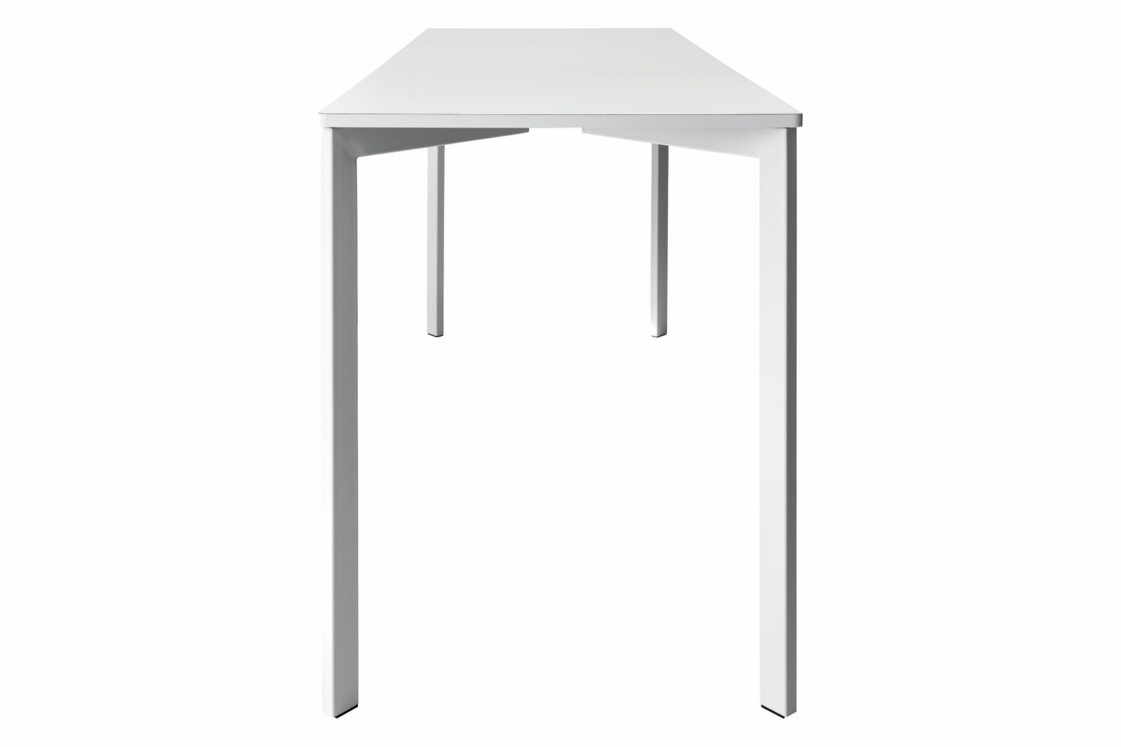 Y! Bar Laminate Table Gubi Laminate White, 70x160 cm, Gubi Metal White