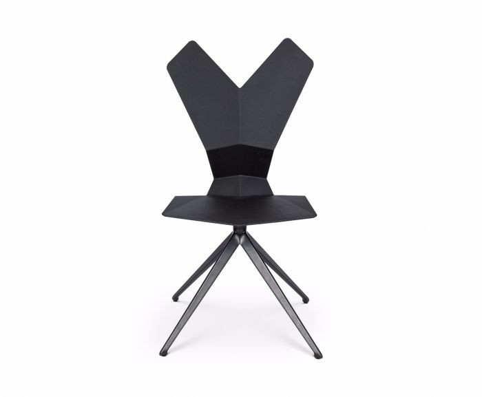 Y Chair Swivel Base Black Shell, Black Base
