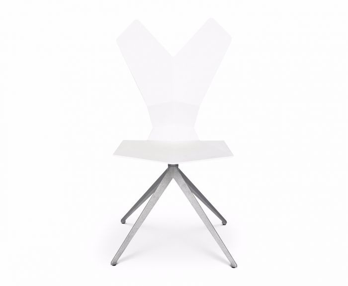 Y Chair Swivel Base White Shell, Aluminium Base
