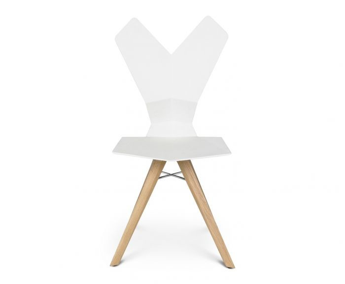 Y Chair White Shell, Natural Oak Base