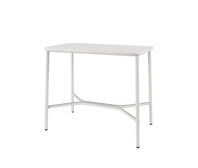 Yard Counter Table with Aluminium Top Matt White, Small