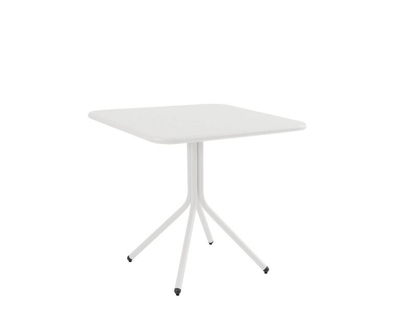 Yard Folding Square Table Medium, Matt White