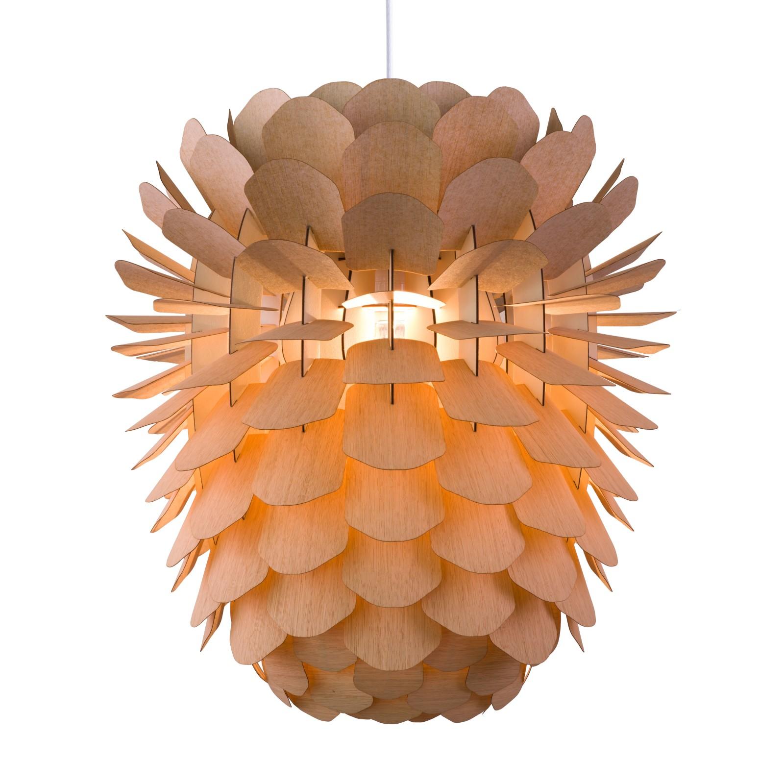 Zappy Pendant Light Oak