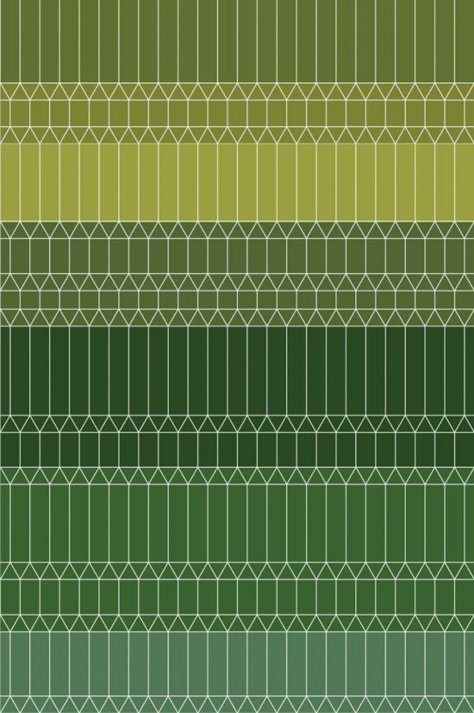 Zigzag Rug Green, Wool, 300 x 400 cm