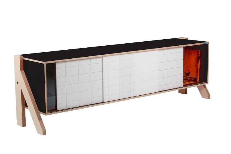 Frame 01 Mid Sideboard Inky Black