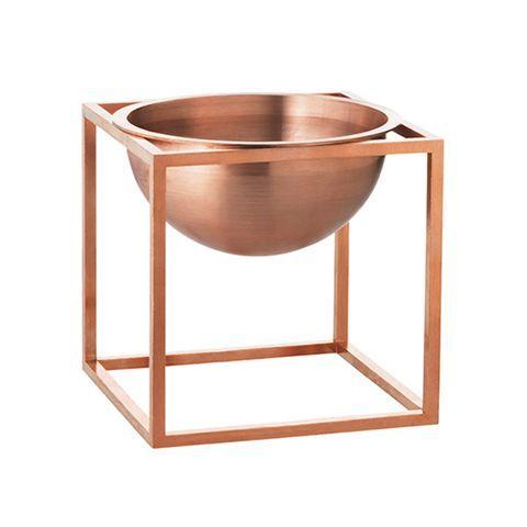 Kubus Bowl - Set of 2 14 x 14 cm, Copper